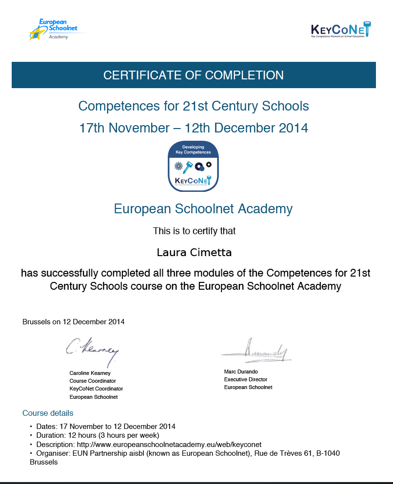 ESA 21 century competence skills